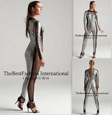 Silver Halloween Costume Silver Gothic Catsuit U0026 Body Suit Jumpsuit Halloween