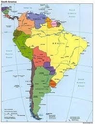 south america map rainforest america