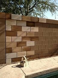cinder hollow block wall backyard living pinterest block