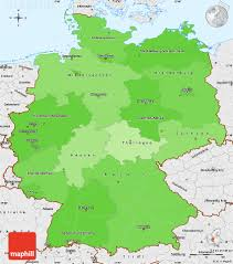 Map Og Germany by Political Shades Simple Map Of Germany Single Color Outside