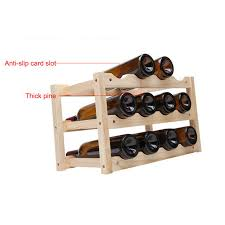 online shop creative foldable shelf wine racks wooden 12bottle