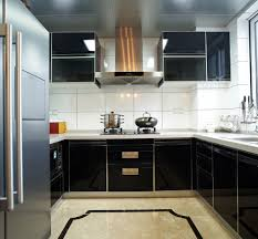black lacquer kitchen cabinets col design black color lacquer kitchen set k028 on aliexpress com