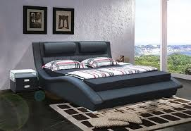 Double Bed Designs Catalogue Modrest Bl9035 B Modern Black Leatherette Bed