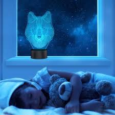 3d Lamps Amazon by 3d Wolf Lamp Optical Illusion Night Light For Nursery Decor