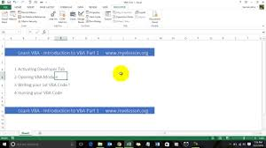 visual basic tutorial in hindi pdf learn vba intro to vba hindi youtube