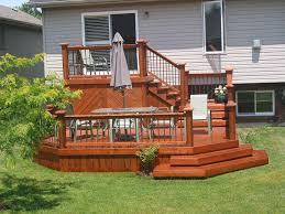 two level backyard deck ideas backyard fence ideas