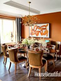 Budget  Family Friendly Dining Room Reynard By Sherwin Williams - Orange dining room