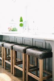 kitchen bar stools backless backless leather counter stools white kitchen with taupe leather