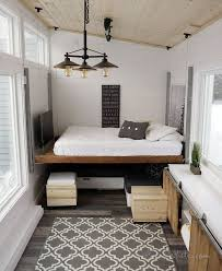 Diy Platform Bed Plans Video by Brilliant Tiny House Features 500 Diy Elevator Bed Built With