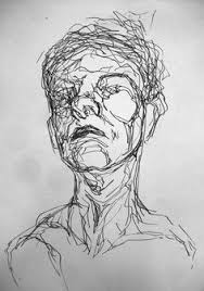 line example of expressive continuous line drawing drawing