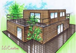 Container House Plans by Fondations Le Blog De Elise Fossoux Container Drawings Floor