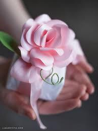 paper roses diy stemmed paper