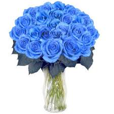 blue roses for sale 20 blue roses arrangement in a glass vase j k florist