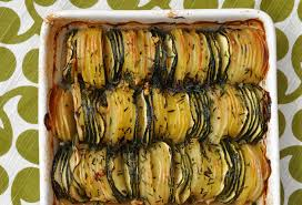 recette de cuisine courgette tian de pommes de terre et de courgettes au thym recettes