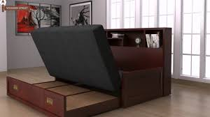 Living Room Wood Furniture Designs Sofa Bed Buy Wooden Sofa Bed Online And Get Space Saving