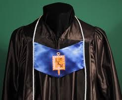 honor stoles alpha kappa mu honor grads