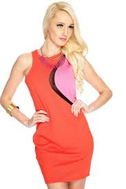 womens clothing party dresses red orange pink cut out mesh party