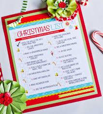 the christmas list the christmas to do list free printable frog prince paperie