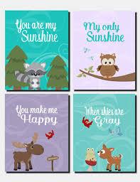 Woodland Animals Nursery Decor Moose Nursery You Are My Woodland Nursery
