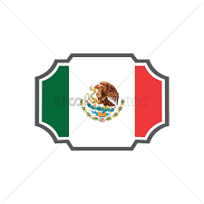 mexican flag label vector image 1618484 stockunlimited