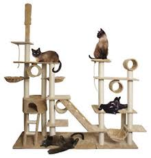 96 white cat tree play house tower condo scratch post rope