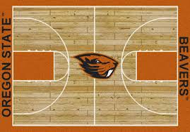 Lsu Area Rugs Oregon State Beavers University Basketball Court Rug Fan Rugs