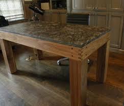 Granite Computer Desk Made Walnut Parsons Style Desk With Granite Top Inside