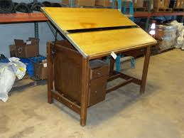 Hamilton Drafting Table Antique Pre 1965 Hamilton Wood Drafting Table For Auction Municibid