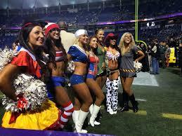 knicks city dancer halloween costume cheer heaven the minnesota vikings cheerleaders celebrate halloween