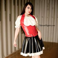 corset blouse bar includes corset blouse and skirt