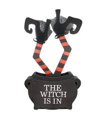 halloween trophy maker u0027s halloween witch legs in cauldron porch sitter the witch is