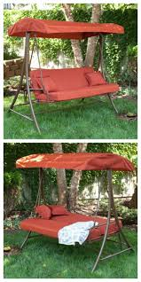 Swing Bed With Canopy Unique Rocking Bed With Canopy For Relaxing Outdoor Seating Idea