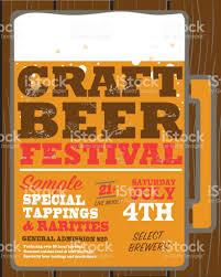 craft beer festival poster design template stock vector art