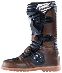 brown leather motorcycle boots msr dual sport boots size 8 only revzilla