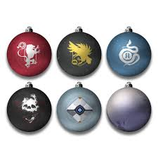 official destiny baubles christmas tree decorations free uk