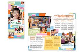 preschool kids u0026 day care brochure template word u0026 publisher