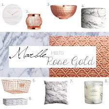 decor edit how to use marble u0026 rose gold in your home u2013 honestly