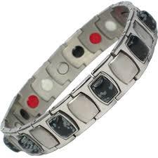 magnetic bracelet with germanium images Mps men 39 s tarent stainless steel germanium magnetic bracelet jpg