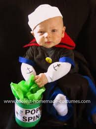 Baby Grinch Halloween Costume Coolest Baby Popeye Costume Popeye Costume Homemade Baby