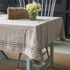 farmhouse style table cloth french stripe linen tablecloth shop p allen wants pinterest