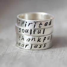 silver name rings personalized custom word rings sterling silver name rings