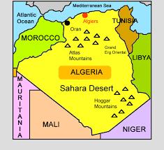 algeria physical map algeria for