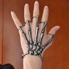 style halloween hand skeleton elastic bracelet bangle rings rch cool