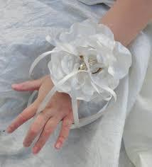 Bracelet Fleur Mariage Bracelet Porte Alliances Fleur De Satin Mariage Mariée