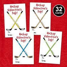 hockey valentines cards 32 youth hockey s cards hockey sticks kids hockey