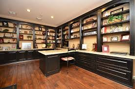 Bookshelves And Desk Built In by Custom Study With Built In Desk Granite Surface Throughout