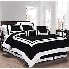 amazon black friday comforter amazon com chezmoi collection 7 piece white with black floral