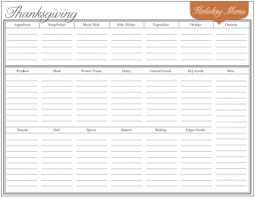 menu planners templates thanksgiving dinner menu planner templates happy thanksgiving