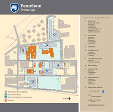 Penn State Main Campus Map by Campus Map Penn State Shenango