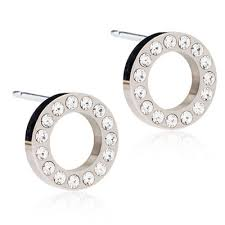 blomdahl earrings blomdahl brilliance puck hollow earrings blomdahlusa